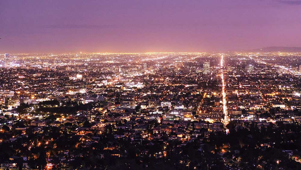 jose mier's sun valley, ca at night