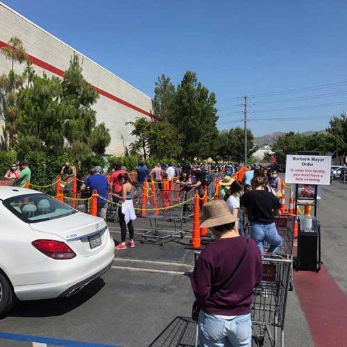 Jose Mier in line at Sun Valley CA area Costco