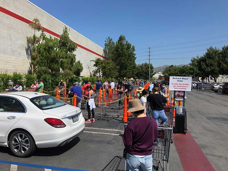 Jose Mier in line at Sun Valley CA area Costco