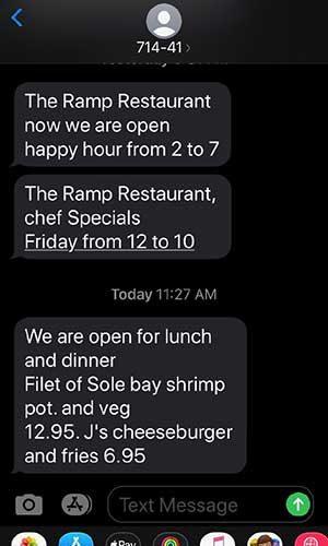 Jose Mier screen grab Ramp Restaurant reopening text