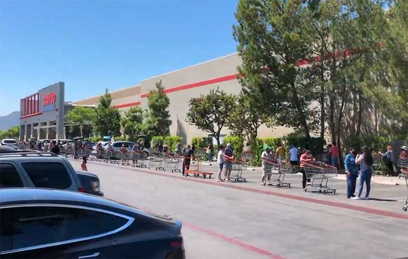 Jose Mier in Sun Valley Area Costco Line
