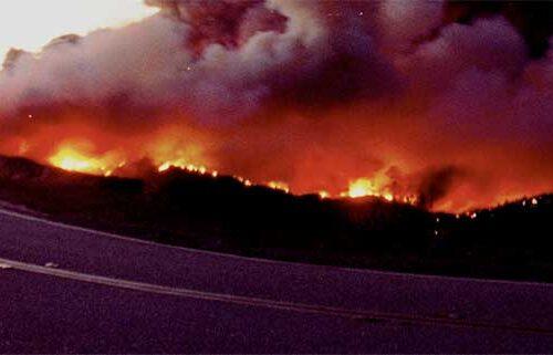 Sun valley brush fire