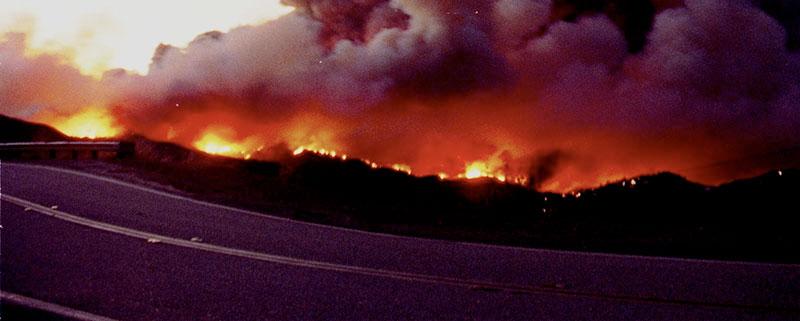 jose mier Sun Valley CA brush fire