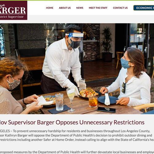 Supervisor Kathryn Barger website jose mier