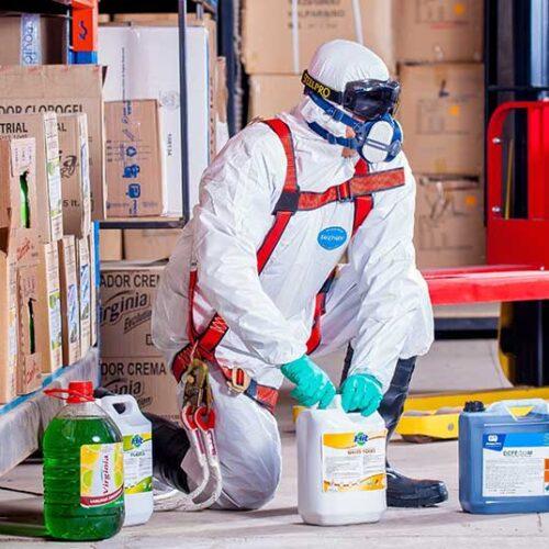 Jose Mier with Sun Valley hazardous chemicals