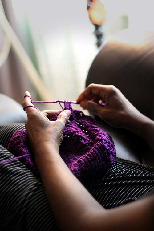 Jose Mier suggests knitting for Sun Valley moms